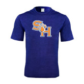 Performance Royal Heather Contender Tee-SH Paw Official Logo