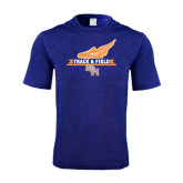 Performance Royal Heather Contender Tee-Track and Field Side Design