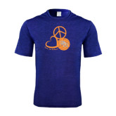 Performance Royal Heather Contender Tee-Volleyball Design