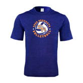 Performance Royal Heather Contender Tee-Volleyball Stars Design