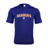 Performance Royal Heather Contender Tee-Arched Bearkats w/Paw