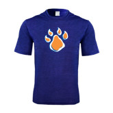 Performance Royal Heather Contender Tee-Paw