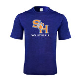 Performance Royal Heather Contender Tee-Volleyball