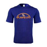 Performance Royal Heather Contender Tee-Arched Football Design