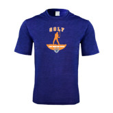 Performance Royal Heather Contender Tee-Golf Stacked