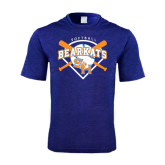 Performance Royal Heather Contender Tee-Softball Design w/ Bats and Plate