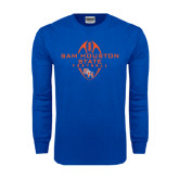 Royal Long Sleeve T Shirt-Tall Football Design