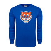 Royal Long Sleeve T Shirt-Bearkat Head