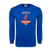 Royal Long Sleeve T Shirt-Golf Stacked