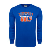 Royal Long Sleeve T Shirt-Golf Tee Off