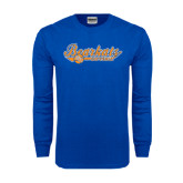 Royal Long Sleeve T Shirt-Softball Lady Design