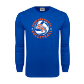 Royal Long Sleeve T Shirt-Volleyball Stars Design