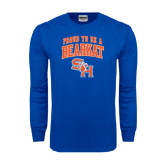 Royal Long Sleeve T Shirt-Proud To Be A Bearkat Arched