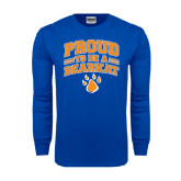 Royal Long Sleeve T Shirt-Proud to be a Bearkat