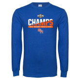 Royal Long Sleeve T Shirt-Southland Conference Indoor Track and Field Champions