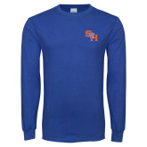 Royal Long Sleeve T Shirt-SH Paw Official Logo