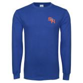 Royal Long Sleeve T Shirt-SH Paw Official Logo