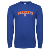 Royal Long Sleeve T Shirt-Arched Bearkats w/Paw