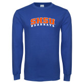 Royal Long Sleeve T Shirt-Arched SHSU Bearkats