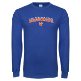 Royal Long Sleeve T Shirt-Arched Sam Houston State Bearkats w/Paw