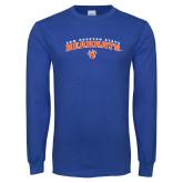 Royal Long Sleeve T Shirt-Arched Sam Houston State Bearkats w/Paw
