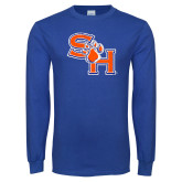 Royal Long Sleeve T Shirt-SH Paw Official Logo Distressed