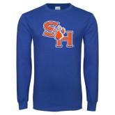 Royal Long Sleeve T Shirt-SH Paw Official Logo Distressed