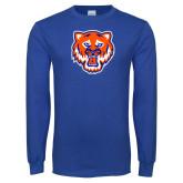 Royal Long Sleeve T Shirt-Bearkat Head