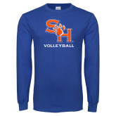 Royal Long Sleeve T Shirt-Volleyball