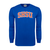 Royal Long Sleeve T Shirt-Arched SHSU