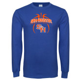Royal Long Sleeve T Shirt-Basketball in Ball