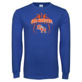 Royal Long Sleeve T Shirt-Basketball in Ball