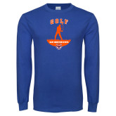Royal Long Sleeve T Shirt-Golf Stacked