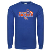 Royal Long Sleeve T Shirt-Soccer Swoosh