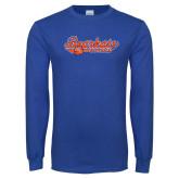 Royal Long Sleeve T Shirt-Softball Lady Design
