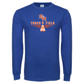 Royal Long Sleeve T Shirt-Track and Field Design