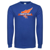 Royal Long Sleeve T Shirt-Track and Field Side Design