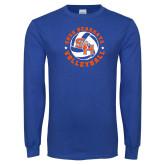 Royal Long Sleeve T Shirt-Volleyball Stars Design