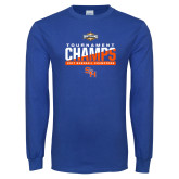 Royal Long Sleeve T Shirt-2017 Southland Conference Baseball Champions