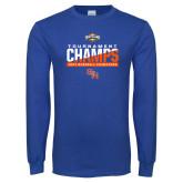 Royal Long Sleeve T Shirt-2017 Southland Conference Baseball Champions