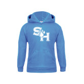 Youth Light Blue Fleece Hood-SH Paw Official Logo