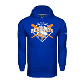 Under Armour Royal Performance Sweats Team Hood-Softball Design w/ Bats and Plate