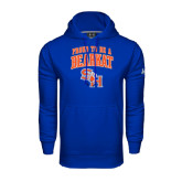 Under Armour Royal Performance Sweats Team Hood-Proud To Be A Bearkat Arched