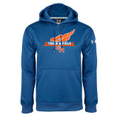Under Armour Royal Performance Sweats Team Hoodie-Track and Field Side Design