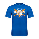 Syntrel Performance Royal Tee-Softball Design w/ Bats and Plate