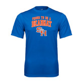 Syntrel Performance Royal Tee-Proud To Be A Bearkat Arched