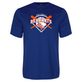 Syntrel Performance Royal Tee-Softball Design w/ Bats and Plate