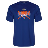 Performance Royal Tee-2017 Southland Conference Baseball Champions