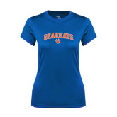 Ladies Syntrel Performance Royal Tee-Arched Bearkats w/Paw
