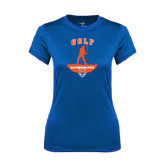 Ladies Syntrel Performance Royal Tee-Golf Stacked